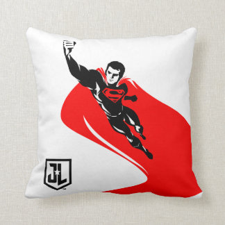 Justice League | Superman Flying Noir Pop Art Throw Pillow