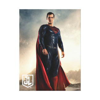 Justice League | Superman On Battlefield Canvas Print