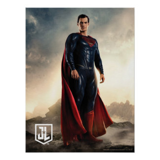 Justice League | Superman On Battlefield Poster