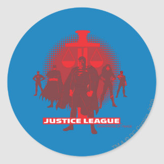 Justice League Sword and Scale Round Sticker