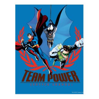 Justice League Team Power Postcard