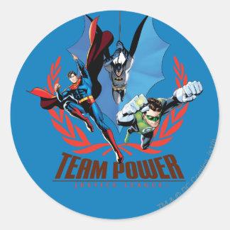 Justice League Team Power Round Sticker