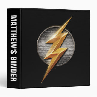 Justice League | The Flash Metallic Bolt Symbol 3 Ring Binders