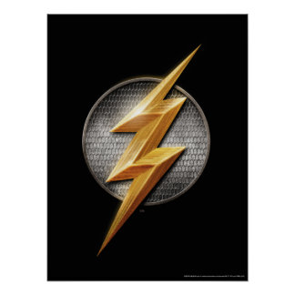 Justice League | The Flash Metallic Bolt Symbol Poster