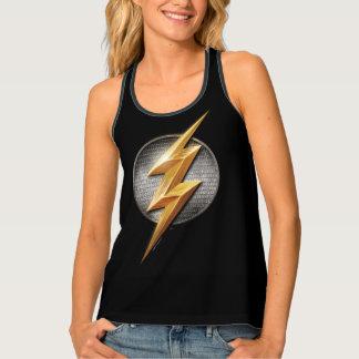Justice League   The Flash Metallic Bolt Symbol Tank Top