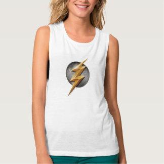 Justice League | The Flash Metallic Bolt Symbol Tank Top