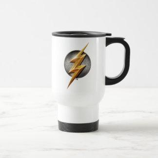 Justice League | The Flash Metallic Bolt Symbol Travel Mug