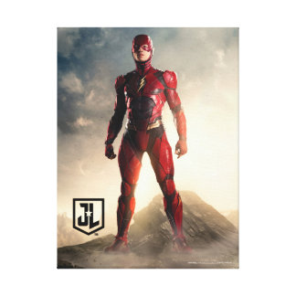 Justice League | The Flash On Battlefield Canvas Print