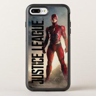 Justice League | The Flash On Battlefield OtterBox Symmetry iPhone 8 Plus/7 Plus Case