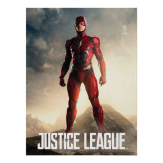 Justice League | The Flash On Battlefield Poster