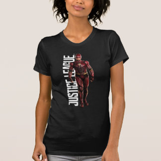 Justice League   The Flash On Battlefield T-Shirt