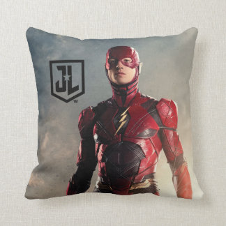 Justice League | The Flash On Battlefield Throw Pillow