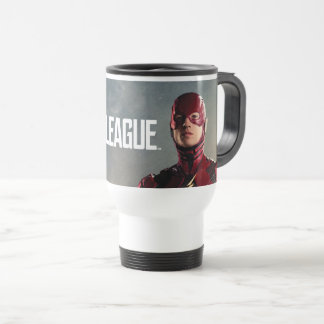 Justice League | The Flash On Battlefield Travel Mug