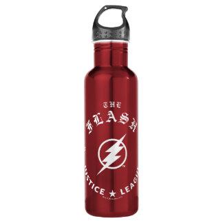 Justice League   The Flash Retro Lightning Emblem 710 Ml Water Bottle