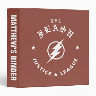 Justice League | The Flash Retro Lightning Emblem Binder