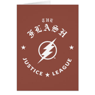 Justice League | The Flash Retro Lightning Emblem Card