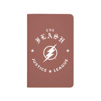 Justice League   The Flash Retro Lightning Emblem Journal