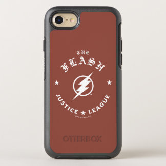 Justice League | The Flash Retro Lightning Emblem OtterBox Symmetry iPhone 8/7 Case