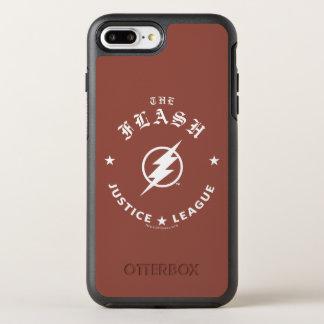 Justice League | The Flash Retro Lightning Emblem OtterBox Symmetry iPhone 8 Plus/7 Plus Case
