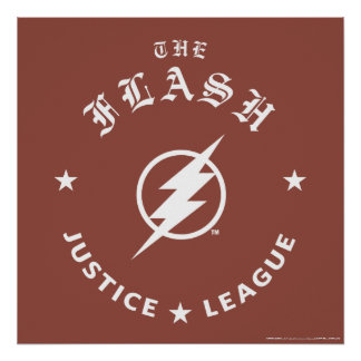Justice League | The Flash Retro Lightning Emblem Poster
