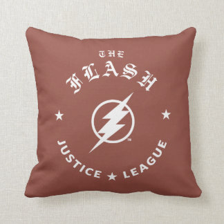 Justice League | The Flash Retro Lightning Emblem Throw Pillow