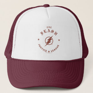 Justice League | The Flash Retro Lightning Emblem Trucker Hat