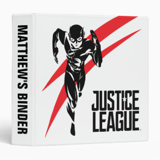 Justice League | The Flash Running Noir Pop Art 3 Ring Binders