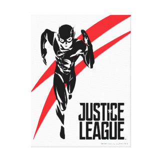 Justice League | The Flash Running Noir Pop Art Canvas Print
