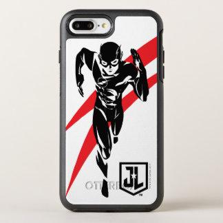 Justice League | The Flash Running Noir Pop Art OtterBox Symmetry iPhone 8 Plus/7 Plus Case