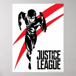 Justice League   The Flash Running Noir Pop Art Poster