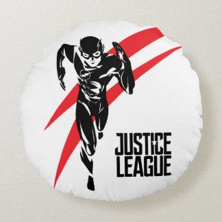 Justice League | The Flash Running Noir Pop Art Round Pillow