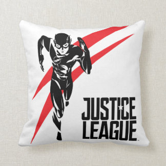 Justice League | The Flash Running Noir Pop Art Throw Pillow
