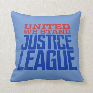 Justice League | United We Stand Graphic Throw Pillow