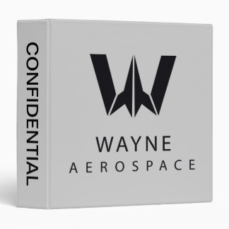 Justice League | Wayne Aerospace Logo Binders