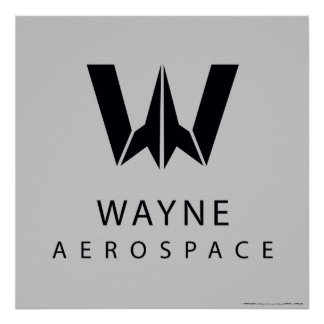 Justice League | Wayne Aerospace Logo Poster