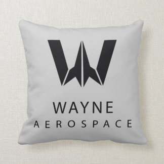 Justice League | Wayne Aerospace Logo Throw Pillow