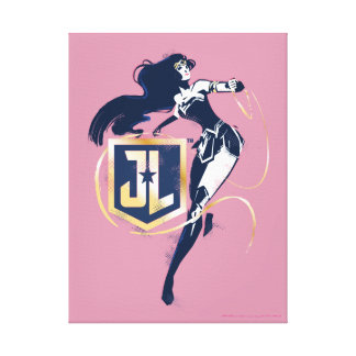 Justice League | Wonder Woman & JL Icon Pop Art Canvas Print