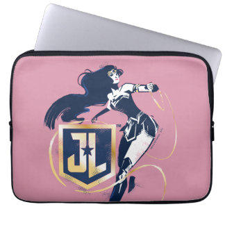 Justice League | Wonder Woman & JL Icon Pop Art Laptop Sleeve