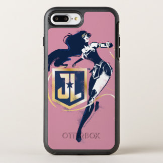 Justice League | Wonder Woman & JL Icon Pop Art OtterBox Symmetry iPhone 8 Plus/7 Plus Case