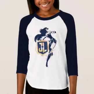 Justice League | Wonder Woman & JL Icon Pop Art T-Shirt