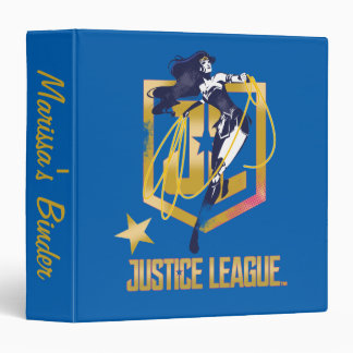 Justice League | Wonder Woman JL Logo Pop Art 3 Ring Binders