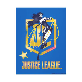 Justice League | Wonder Woman JL Logo Pop Art Canvas Print