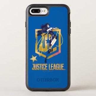 Justice League | Wonder Woman JL Logo Pop Art OtterBox Symmetry iPhone 8 Plus/7 Plus Case