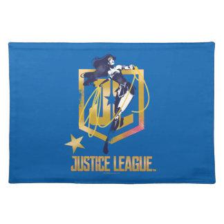 Justice League | Wonder Woman JL Logo Pop Art Placemat