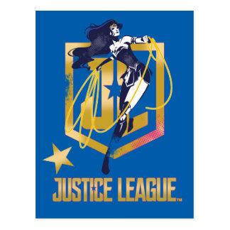 Justice League   Wonder Woman JL Logo Pop Art Postcard