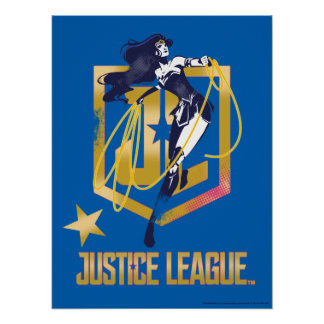 Justice League | Wonder Woman JL Logo Pop Art Poster