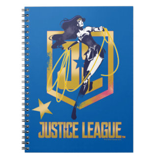Justice League | Wonder Woman JL Logo Pop Art Spiral Notebook
