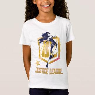 Justice League | Wonder Woman JL Logo Pop Art T-Shirt