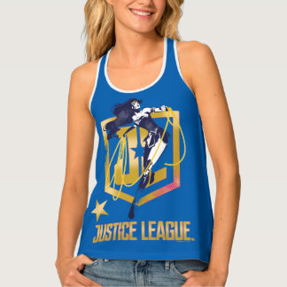 Justice League | Wonder Woman JL Logo Pop Art Tank Top