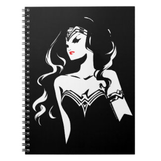 Justice League | Wonder Woman Noir Pop Art Spiral Notebook